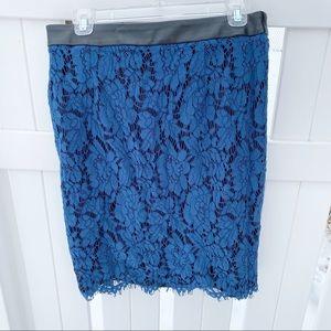 🌼NWT Stitch Fix Brixon Ivy Blue Lace Pencil Skirt
